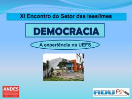 DEMOCRACIA - ADUFS