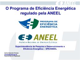 Apresentação Programa Eficiência Energética ANEEL - PPT