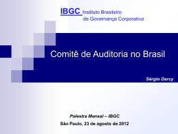 Palestra IBGC agosto 2012