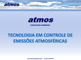 Slide 1 - ATMOS Consultoria Ambiental