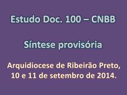 Síntese Provisória do Estudo- Doc. 100 da CNBB