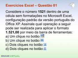 Exercícios Excel – Questão 02