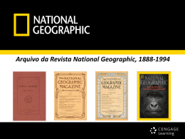 Arquivo da Revista National Geographic, 1888-1994