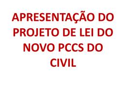 APRESENTAÇÃO PCCS CIVIL
