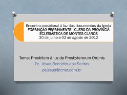 Formação presbiteral à luz dos documentos da CNBB