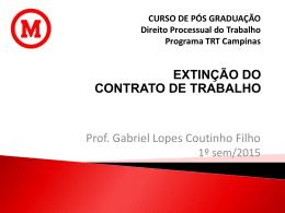 DEMISSÃO POR JUSTA CAUSA - Gabriel Lopes Coutinho Filho