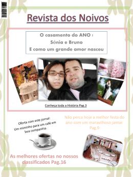 Jornal dos Noivos - O Nosso Casamento