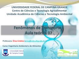 manômetros - Universidade Federal de Campina Grande