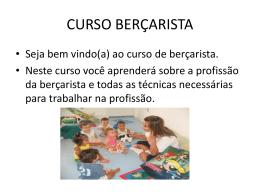 CURSO BERÇARISTA