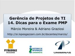 14. Dicas para o Exame PMP - Lopes & Gazzani Planejamento Ltda