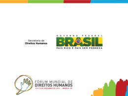 Atividades Autogestionadas - Fórum Mundial de Direitos Humanos