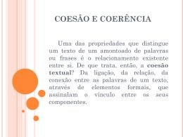 COERÊNCIA E COESÃO - Colégio Energia Barreiros