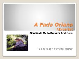 A Fada Oriana Powerpoint