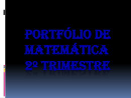 Portfólio do 2º Trimestre