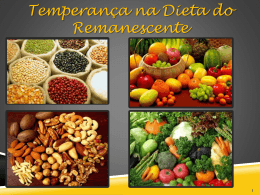 Temperança na Dieta do Remanescente2