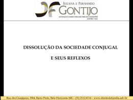 Dissolucao sociedade conjugal - slides