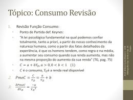 Tópico: Consumo e Investimento