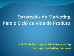 Estratégias/CVP e Formulação de Preço