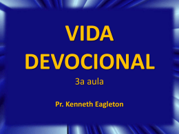 VIDA DEVOCIONAL 3a aula - Global Training Resources
