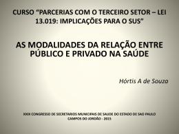 Hórtis A. de Souza - MODALIDADES PUBL PRIV SAÚDE