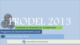 PROGRAMA DE PROMOÇÃO DA ACESSIBILIDADE