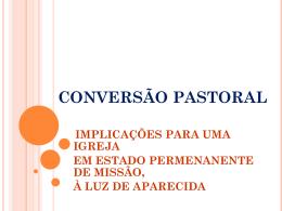 CONVERSÃO PASTORAL - Diocese de Lorena