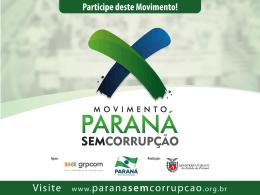 Palestra Movimento Paraná sem Corrupção 2013