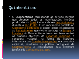 Quinhentismo - Colégio Salesiano Recife