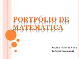 Portfólio de matemática - Giullia