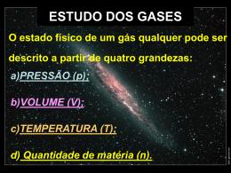 ESTUDO DOS GASES - Colégio Santa Cruz