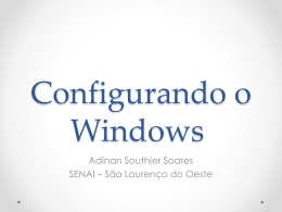Configurando o Windows - pptx