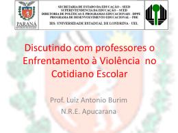 DISCUTINDO COM OS PROFESSORES O