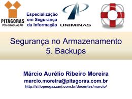 5. Backups