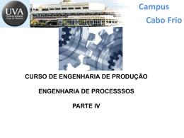 Engenharia de Processos - Parte IV.