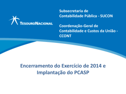 [slide] Procedimentos para Encerramento e Abertura do Exercício