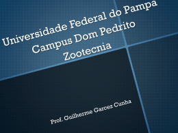 Universidade Federal do Pampa Campus Dom Pedrito Zootecnia