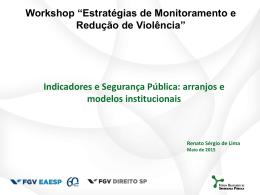 FBSP Workshop Maranhão Maio de 2015