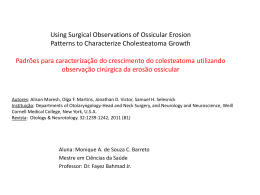 Using Surgical Observations of Ossicular Erosion Patterns to