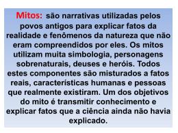 Mito x Lenda - COLÉGIO ESTADUAL JARDIM PORTO ALEGRE