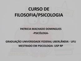curso de filosofia/psicologia patricia machado