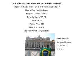Filosofia Professor: Gentil Gonçales Filho