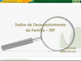 IDF SAGI - Secretaria de Avaliação e Gestão da Informação