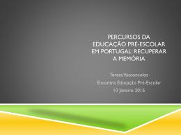 Powerpoint da comunicação de Teresa Vasconcelos