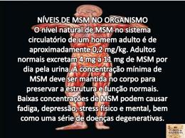 BENEFÍCIOS DO MSM