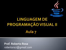 LINGUAGEM DE PROGRAMAÇÃO VISUAL II