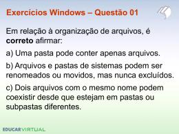Exercícios Windows – Questão 16