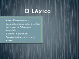 O Léxico