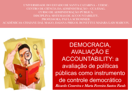 Accountability e avaliacao