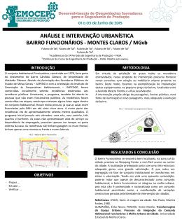 análise e intervenção urbanística bairro vila brasília. montes claros
