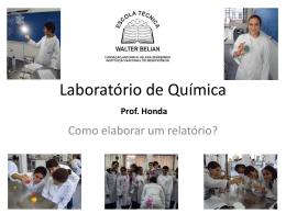 Laboratórios de Química, Física e Biologia